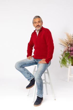 Jesen zima 2021 muški džember 12164006 crvena