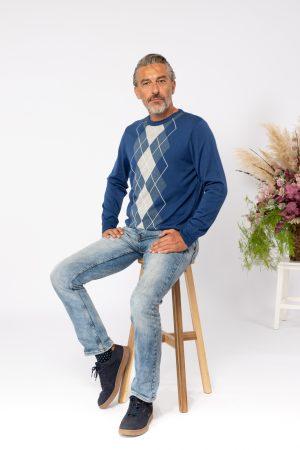 jesen zima 2021 muški pulover 12164004 plavi
