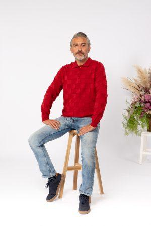 Jesen zima 2021 muška polo košulja 12164005 crvena